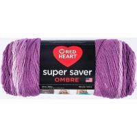Red Heart Super Saver Ombre Purple