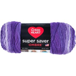 Red Heart Super Saver Ombre Violet
