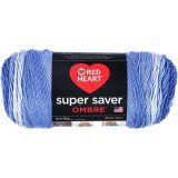 Red Heart Super Saver Ombre Baja Blue