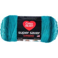Red Heart Super Saver Ombre Deep Teal