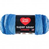 Red Heart Super Saver Ombre True Blue