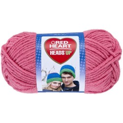 Red Heart Heads Up Candy Pink