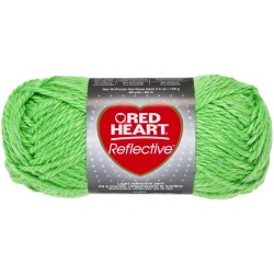 Red Heart Reflective Neon Green