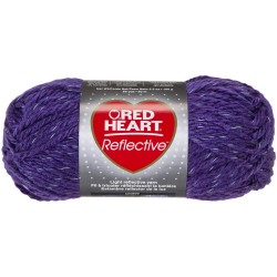 Red Heart Reflective Purple