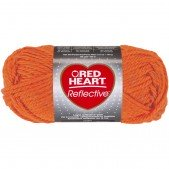 Red Heart Reflective Neon Orange