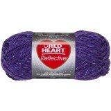Red Heart Reflective Purple